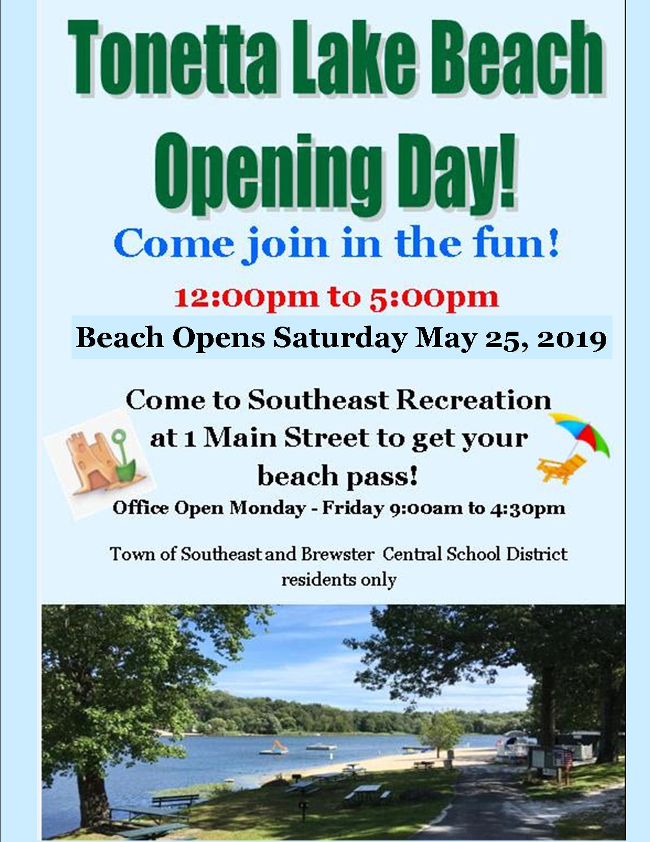 Tonetta Lake Opening Day 2019